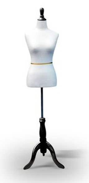 White Female Dress Form Size 6-8