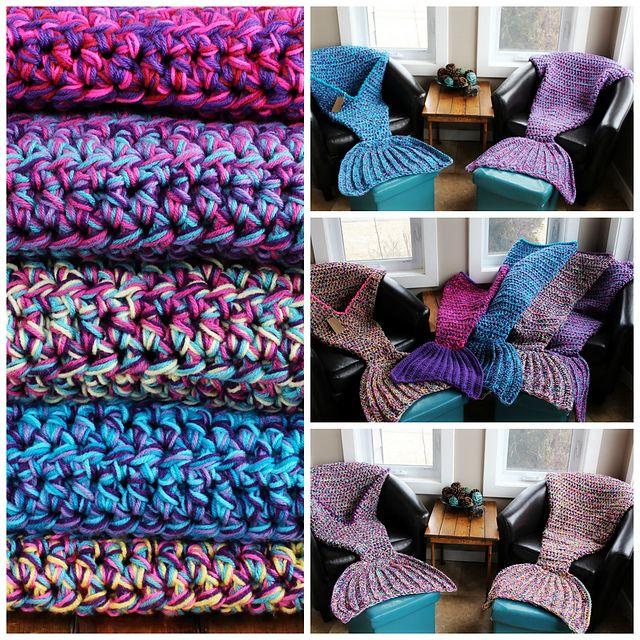 Create Your Own Crocheted Mermaid Blanket With These Free Patterns